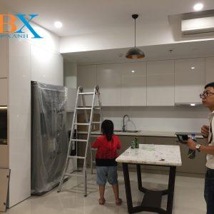 Thi công lắp đặt tủ bếp an cường chung cư quận 6 dì Hoa