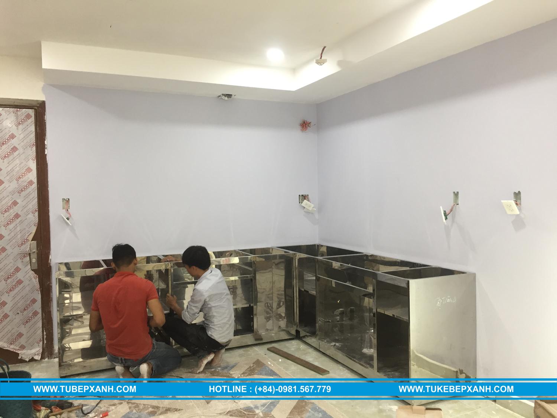 lắp đặt tủ bếp inox 304
