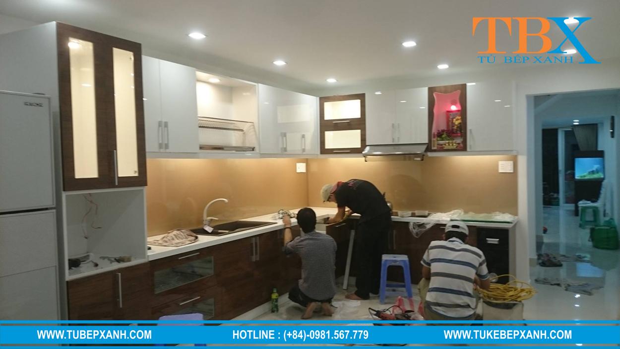 thiét kế và thi công tủ bếp tiêu chuẩn
