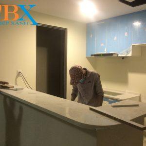 Thi công tủ bếp và nội thất chung cư masteri thảo điền q2 qua cty thiết kế
