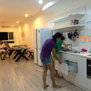 Thi công tủ bếp vũng tàu theo yêu cầu nhà chị yến