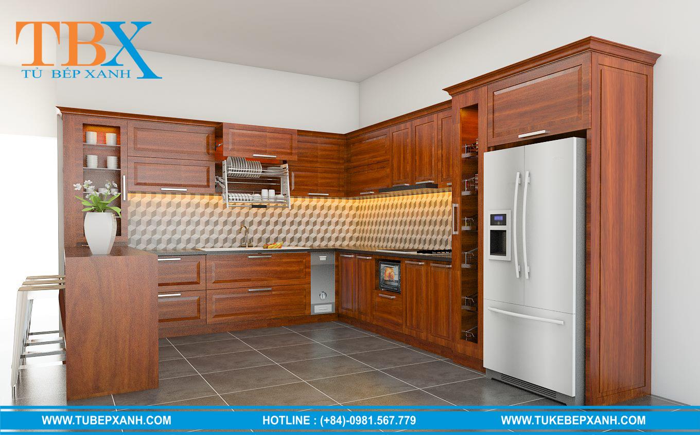 Thi công tủ bếp ở tại HCM