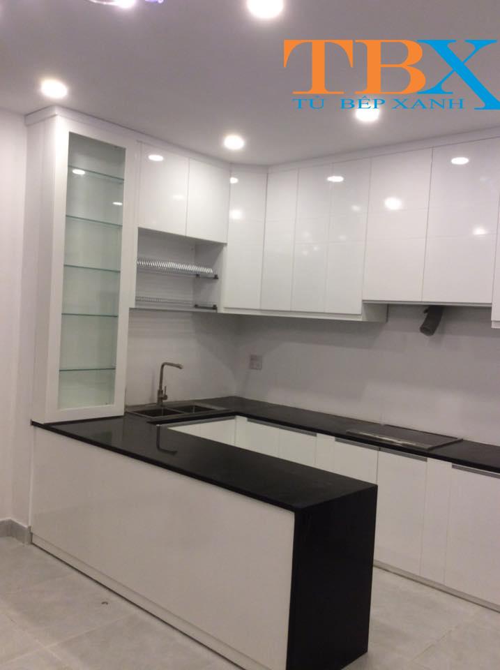 Tủ Bếp Acrylic Đẹp Hiện Đại Sang Trọng 2018 TBXA123