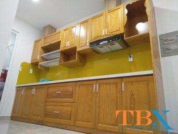 Cách nới rộng không gian nhà bếp bằng tủ bếp
